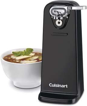 2. Cuisinart CCO-50BKN Deluxe Electric Can Opener, Black