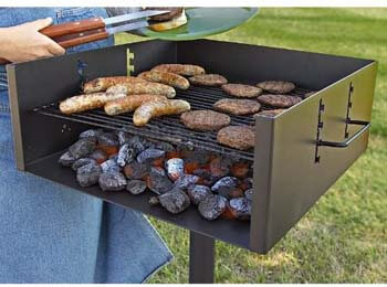 1. Guide Gear Heavy-Duty Park Style Charcoal Grill, Extra Large