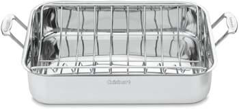 5. Cuisinart Chef's Classic Stainless 16-Inch Rectangular Roaster