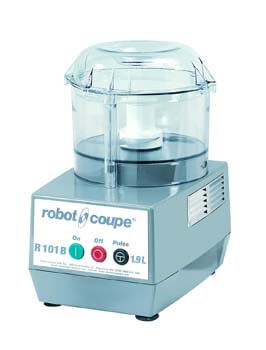 3. Robot Coupe R101 B CLR Combination Food Processor, 2.5-Liter Bowl, Polycarbonate, Clear, 120v