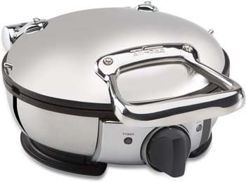 6. All-Clad WD700162 Stainless Steel Classic Round Waffle Maker