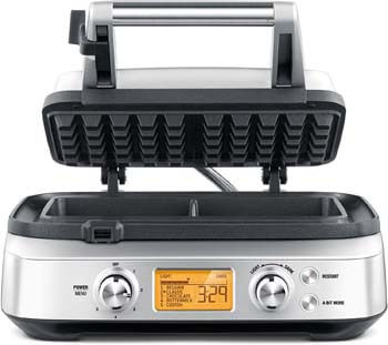 10. Breville the Smart Pro 2 Slice Waffle Maker, Silver