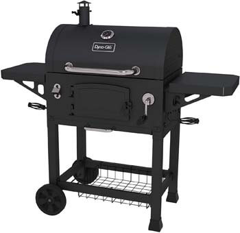 10. Dyna-Glo DGN486DNC-D Heavy-duty Charcoal Grill, Large, Black