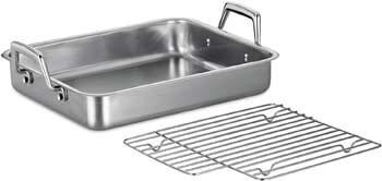 8. Tramontina 80203/003DS Gourmet Stainless Steel Rectangular Roasting Pan