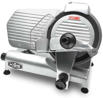 3. KWS MS-10NT Premium Commercial 320W Electric Meat Slicer