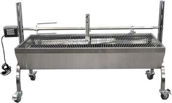 7. TITAN GREAT OUTDOORS Rotisserie Grill Roaster Stainless Steel