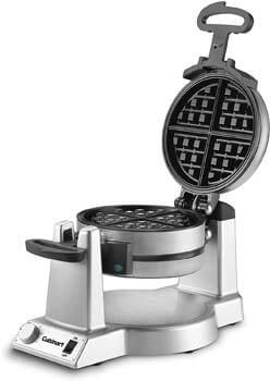 1. Cuisinart WAF-F20 Double Belgian Maker Waffle Iron, Silver