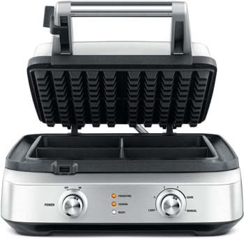 4. Breville BWM604BSS Smart Waffle Maker, Brushed Stainless Steel