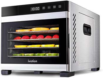 6. Ivation 6 Tray Commercial Food Dehydrator Machine