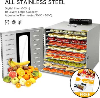 1. Commercial Stainless Steel Food Dehydrator