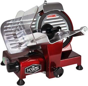 4. KWS MS-10XT Premium Commercial 320W Electric Meat Slicer