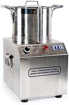 4. FonChef 550W Stainless Steel Commercial Grade Food Processor 1400RPM High Output 4L CE Certified Kitchen Fritter