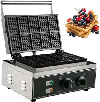 2. VBENLEM Commercial Rectangle Waffle Maker