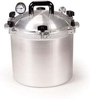 7. All American 921 Canner Pressure Cooker, 21.5 qt, Silver