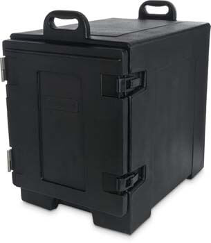 1. Carlisle PC300N03 Cateraide End-Loading Insulated Food Pan Carrier, 5 Pan Capacity, Black