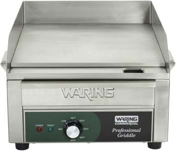 7. Waring Commercial WGR140 120-volt Electric Countertop Griddle, 14-Inch