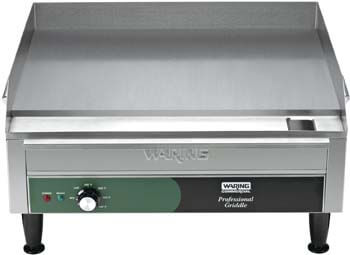 9. Waring Commercial WGR240X 240-volt Electric Countertop Griddle, 24-inch