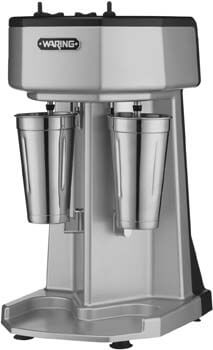 9. Waring Commercial Heavy-duty Die-cast Metal Double Spindle Drink Mixer