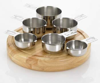 5. Bellemain Stainless Steel Measuring Cup Set, 6 Piece