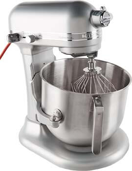 1. KitchenAid KSM8990NP 8-Quart Commercial Countertop Mixer, 10-Speed, Gear-Driven, Nickel Pearl