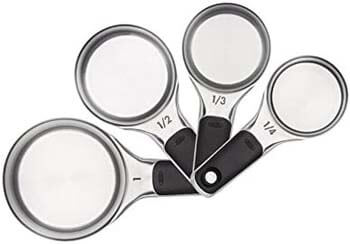 4. OXO Good Grips Measuring Cups with Magnetic Snaps, Stainless Steel