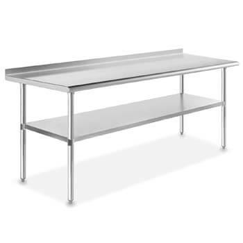 7. GRIDMANN NSF Stainless Steel Commercial Kitchen Prep & Work Table w/ Backsplash - 30 in. x 72 in.