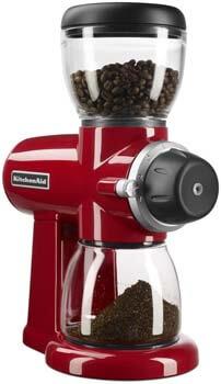 2. KitchenAid Burr Coffee Grinder, Empire Red
