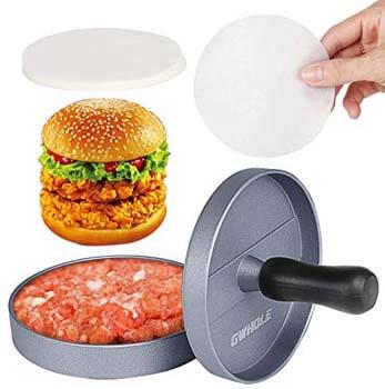 5. GWHOLE Non-Stick Burger Press Aluminum Hamburger Patty Maker