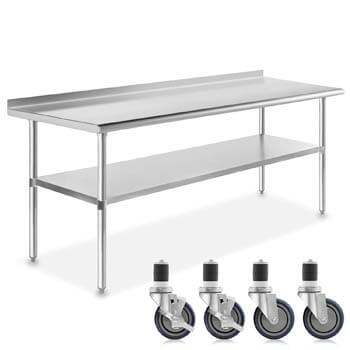 9. GRIDMANN NSF Stainless Steel 72 in. x 30 in. Commercial Kitchen Prep & Work Table