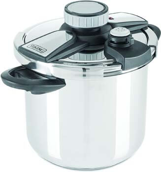 6. Viking Stainless Steel Pressure Cooker with Easy Lock Lid, 8 Quart