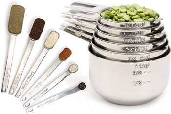 8. Simply Gourmet Measuring Cups and Measuring Spoons Set