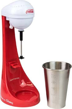 1. Nostalgia Two-Speed Electric Coca-Cola Limited Edition Milkshake Maker and Drink Mixer