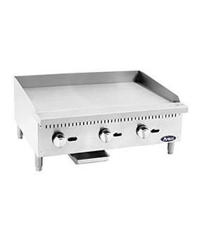8. Atosa USA ATMG-36 Heavy Duty Stainless Steel 36-Inch Manual Griddle