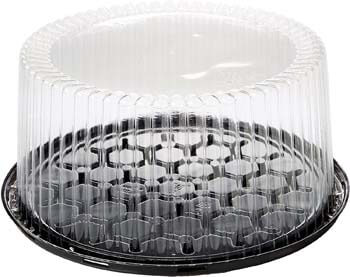 9. 10-11inch Cake Double Layer Clear Cake Container Dome and Base Carry & Display Storage Box