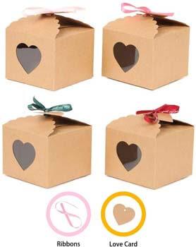 5. YuSang Kraft Boxes with Tags and Ribbons