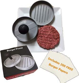 8. Cave Tools Burger Press - Perfectly Formed Hamburger Maker