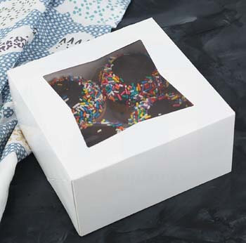4. Beautiful White Bakery Box