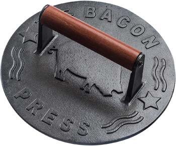 3. Bellemain Cast Iron Grill Press, Heavy-duty bacon press