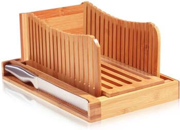 1. Bambusi Bread Slicer Cutting Guide with Knife