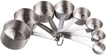 7. Smithcraft Stainless Steel Measuring Cups Set