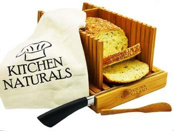 3. Premium Bamboo Foldable Bread Slicer