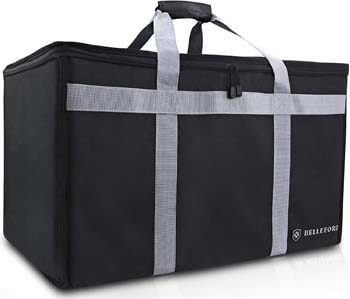 7. BELLEFORD Insulated Food Delivery Bag XXL