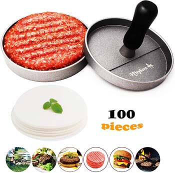 4. Meykers Burger Press 100 Patty Papers Set