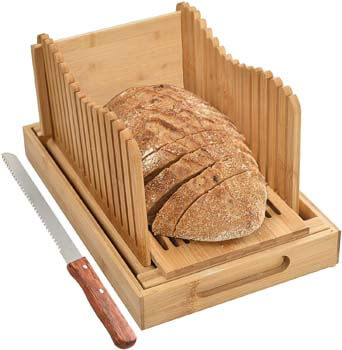 2. Kitchen Seven Bamboo Bread Slicer