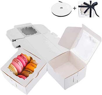 8. Thalia 60 Pack White Bakery Boxes