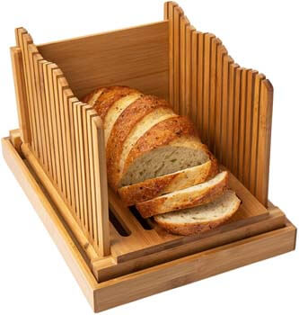 5. Bamboo Bread Slicer for Homemade Bread Loaf