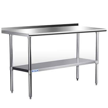 1. Stainless Steel Table for Prep & Work 24 x 60 Inches, NSF Commercial Heavy Duty Table
