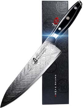 9. TUO Chef Knife - Kitchen Knives 8-inch High Carbon Stainless Steel - Pro Chef's Vegetable Meat Knife