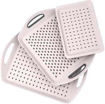 6. Bravi 3PC Anti-slip Food Serving Tray