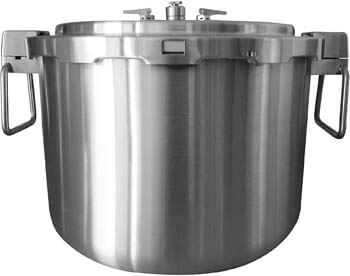 1. Buffalo QCP435 37-Quart Stainless Steel Cooker [Commercial series]-Pressure Gauge EXCLUDED